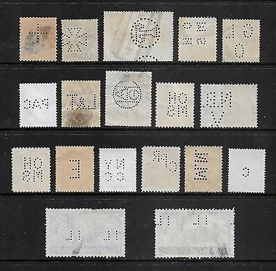 World stamps - mixed collection, Perfins, No.13, some great early ones