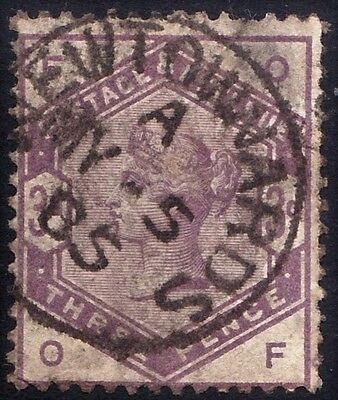 SG191 3d Lilac. Well Centred Cancel. Fine Example. CAT £100.00