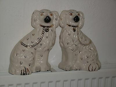 A Beautiful Pair of Royal Doulton Staffordshire Fireside Spaniel Dogs
