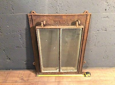antique cast iron opening window and frame