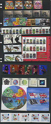 Gb Great Britain 2001 Complete All Sets For Year U/m/mint Mnhinc All Mini/sheets