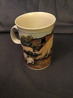 Pig Scenes DUNOON POTTERY FINE STONEWARE ENNERDALE MUG BY JACK DADD