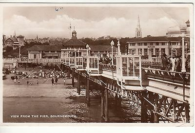 RPPC, View from the Pier, BOURNEMOUTH, Vintage postcard
