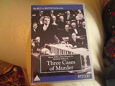 THREE CASES OF MURDER 1955 Orson Welles, John Gregson, RARE TITLE, VGC FREE-MAIL