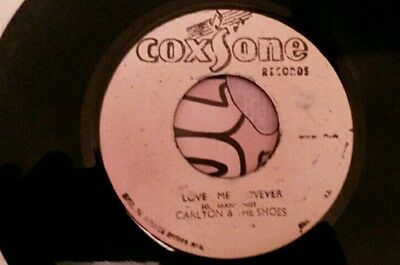 "Coxsone orig ja 7"" reggae rocksteady Love Me Forever Carlton and the Shoes vg+"