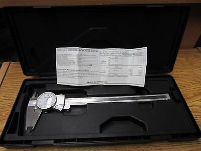 MITUTOYO DIAL CALIPER MODEL 505-676 8 INCH Excellent Condition Calibrated