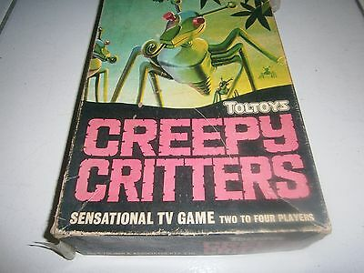 TOLTOYS CREEPY CRITTERS 1960's VINTAGE AUSTRALIAN MADE GAME RARE - FREE POSTAGE