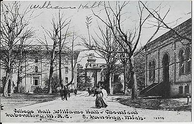 Postcard - Lansing, Michigan - College Hall, Williams Hall & Chemical M.A.C.