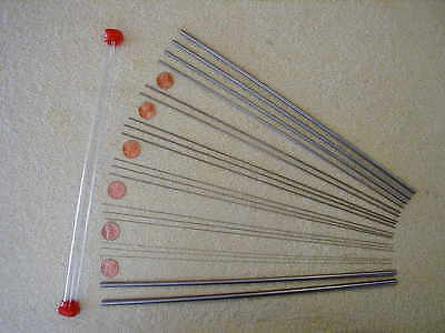 Drill Rod and Music Wire, Small Sizes, 20 Piece Assortment, Tool Steel