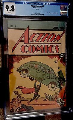 Action Comics # 1 (1987) White Pages Nestle Promotional Reprint Cgc 9.8 Htf