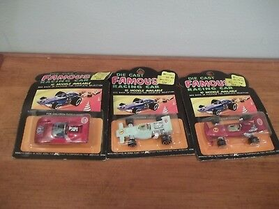 VINTAGE RARE LOT OF 3 DIE CAST METAL Famous Racing Cars SEALED KMART STP GULF