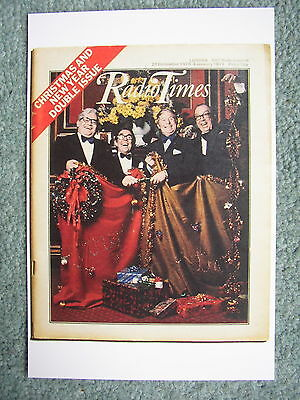 NEW Postcard Vtg Radio Times cover December 1973 Morecambe&Wise Two Ronnies Xmas