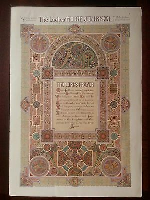 VINTAGE 1916  Page from The Ladies HOME JOURNAL *The Lord's Prayer