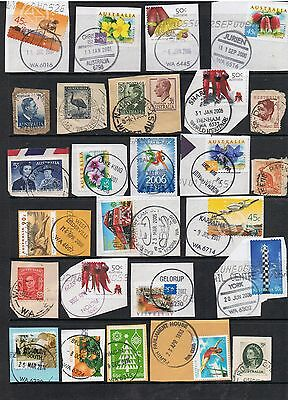 Selection Of W.a. Postmarks On Pre-Decimal And Decimal Stamps.