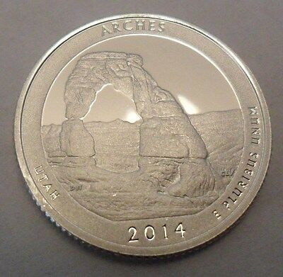 2014 S Arches  *90% Silver Proof*  Quarter   **free Shipping**