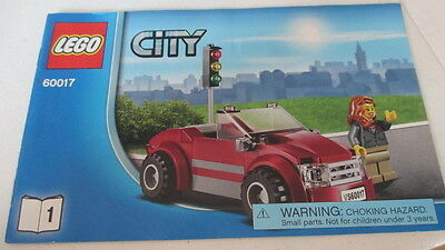 Lego City Instruction Manual Book 1 Only # 60017