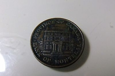 1842 Bank Token - Province of Canada - Half Penny
