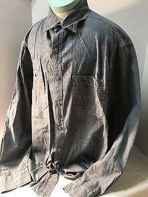 WWII-Korean war US Navy Enlisted Chambray blue work utility shirt