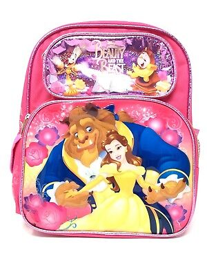 """New Arrive Disney Beauty And The Beast 16"""" Canvas School Backpack"""