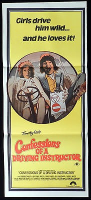 CONFESSIONS OF A DRIVING INSTRUCTOR Vintage Original Daybill Movie Poster