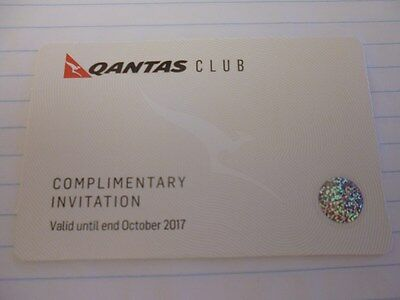 Qantas Club Lounge Pass - expires end of October 2017