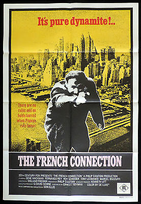 THE FRENCH CONNECTION One Sheet Movie poster Gene Hackman