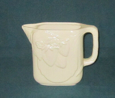 Vintage Mccoy Pottery Water Pitcher Embossed Fruits