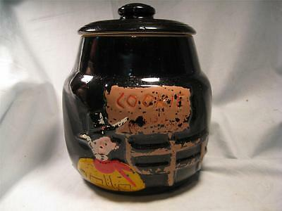 Bean Pot Shape Cookie Jar with Cowboy on it