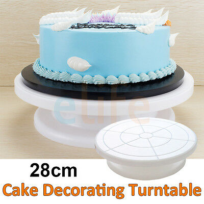 """11"""" Revolving Rotating Cake Plate Decorating Turntable Kitchen Display Stand New"""