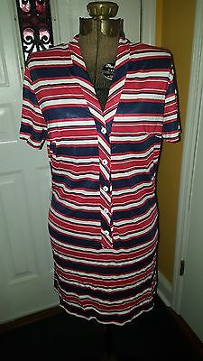 Cool vintage 1970's red, white, & blue striped dress