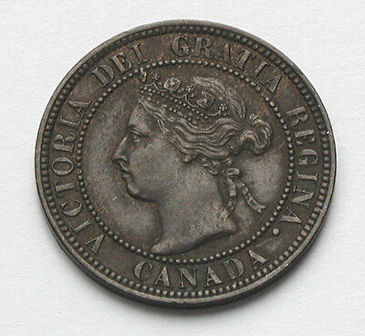 1896 CANADA Victoria Coin - Large Cent 1¢ -