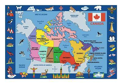 Map of Canada Kids Multicolor Rug [ID 74283]