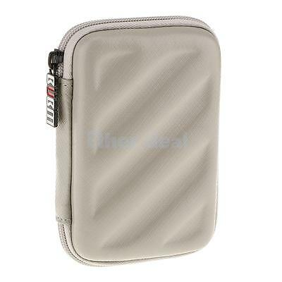 """Protective Carrying Case for 2.5"""" USB External Hard Disk Drive Gadget Silver"""