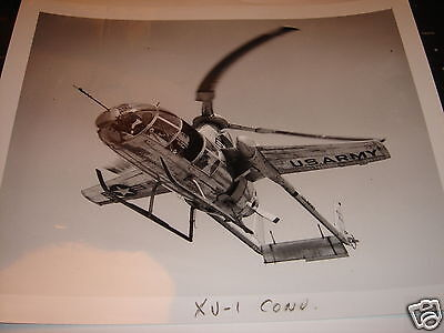 "ORIGINAL 8"" x10"" PHOTO U.S.ARMY McDonnell XV-1 Experimental Gyroplane 1of2 Built"