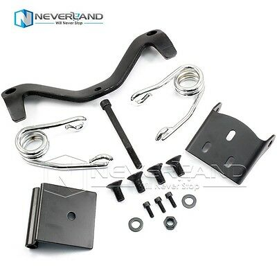 Solo Seat Springs Bracket Mount Kit For All Harley Sportster Dyna 48 72 Sliver