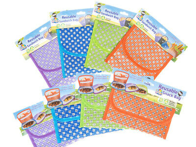 Reusable Snack & School Sandwich Pouches, Reusable lunch bag, BPA Free Snack & L