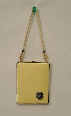 Vintage Mondaine Dance Purse, Cosmetic Compact - Yellow