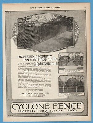 1923 Cyclone Fence Co Waukegan IL Cleveland OH Dignified Property Protection Ad