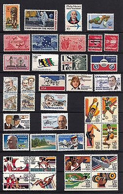 US Airmail collection of 55 stamps, plus Souvenir Sheet at $21.63 Face, MNH