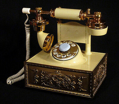 1960s 1970s Vintage FRENCH PROVINCIAL Telephone Deco-Tel Hollywood Regency N/R!