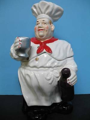 Italian FAT Chef  cookie jar BISTRO DECOR home NEW Bar Waiter Home Big.