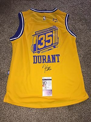 Kevin Durant Golden State Warriors Signed Throwback Jersey Mvp Nba Champs? Jsa!