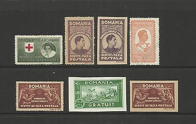 ROMANIA ~ 1940s CHARITY TAX STAMPS (SMALL GROUP)