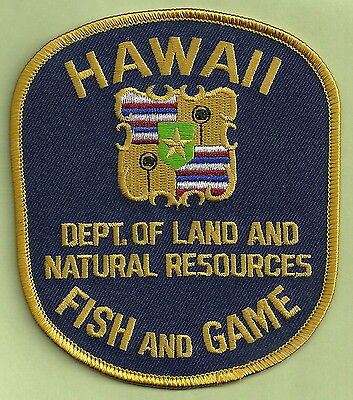 Hawaii Department Of Natural Resource Fish & Game Enforcement Police Patch