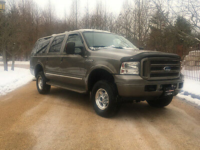 2005 Ford Excursion Limited Sport Utility 4-Door Diesel free shipping warranty financing limited clean carfax 4x4 loaded off road