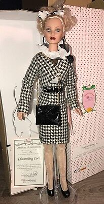 """Channeling Coco Chanel 17"""" vinyl fashion doll by Bilotto for Paradise Galleries"""