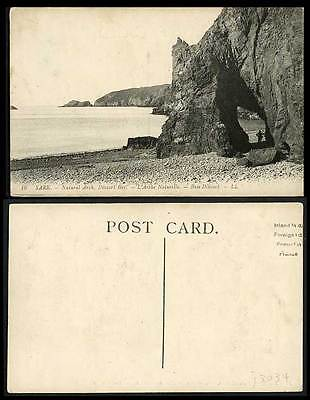 SARK DIXCART BAY L.L. No.16 Channel Islands Old Postcard Natural Arch Rocks Baie