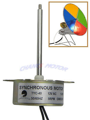 TYC-40 12V AC SYNCHRONOUS  GEAR MOTOR 5RPM 70mm Shaft for Christmas decoration