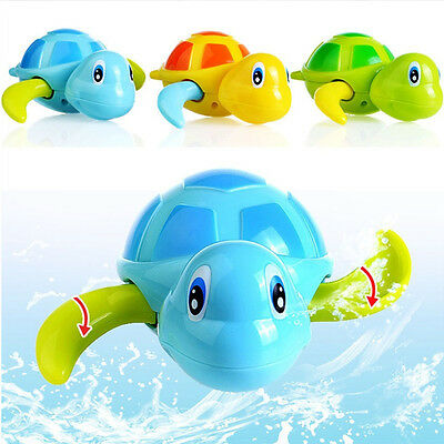 Toys Baby Children Bath Toy Swim Turtle Wound-up Chain Small Animal Toy