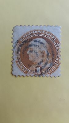 USA Franklin After Houdon Bust Used 1 Cent Stamp as Per Photo CV=160 Pounds